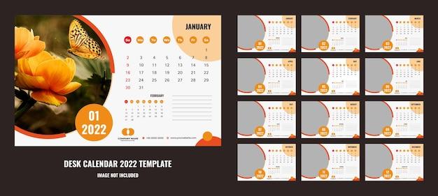 Bonito calendario de escritorio o planificador 2022