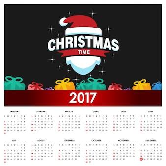 Bonito calendario navideño para 2017