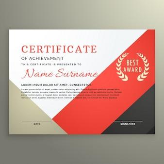 Bonito certificado con formas geométricas