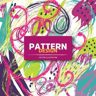 Bonito diseño de patrones dibujados a mano