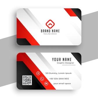 Bonito diseño de plantilla de tarjeta de visita de marca roja