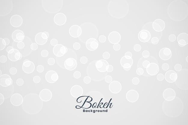 Bonito efecto de luz bokeh blanco