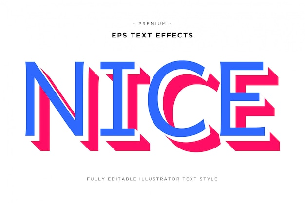 Bonito efecto de texto 3d