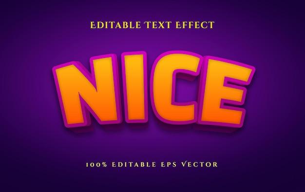 Bonito efecto de texto vectorial editable de estilo 3d en negrita fácil de editar