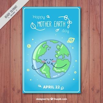 Bonito folleto del día de la tierra