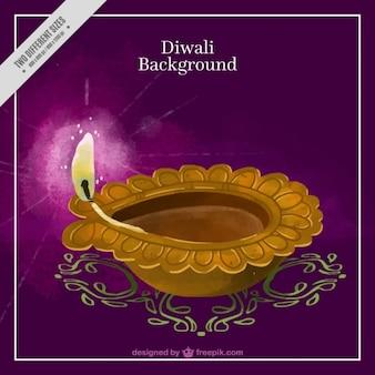 Bonito fondo de acuarela de diwali