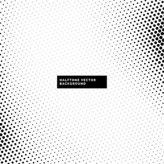 Bonito fondo blanco y negro con puntos de semitono