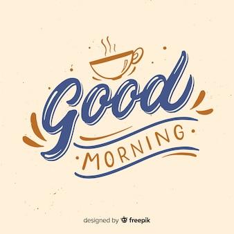 Bonito fondo caligráfico de buenos días