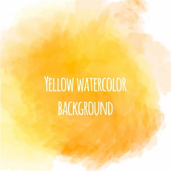 Bonito fondo de acuarela de color amarillo