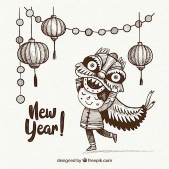Bonito fondo de feliz año nuevo chino