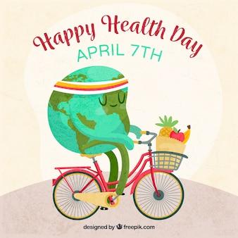 Bonito fondo del mundo con hábitos saludables