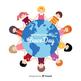 Bonito fondo del día de la paz