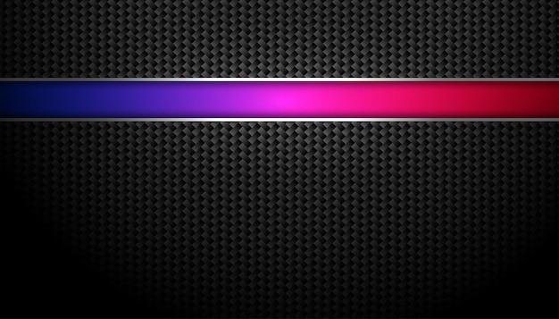 Bonito fondo de fibra de carbono con línea colorida