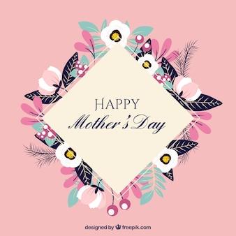 Bonito fondo floral del día de la madre