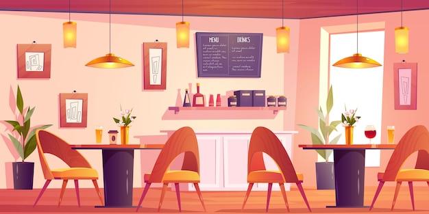 Bonito fondo de restaurante ilustrado