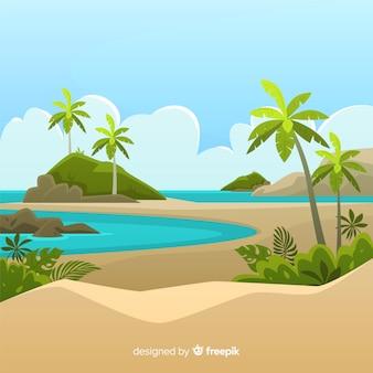 Bonito fondo tropical