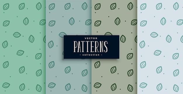 Bonito y lindo diseño de patrón de hojas pequeñas