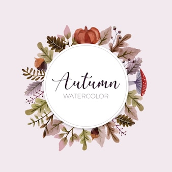 Bonito marco con hojas de otoño