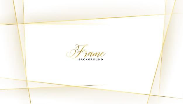 Bonito marco de líneas doradas sobre fondo blanco.