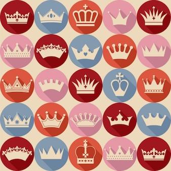 Bonito patrón de coronas vintage