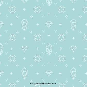 Bonito patrón de diamantes dibujados a mano