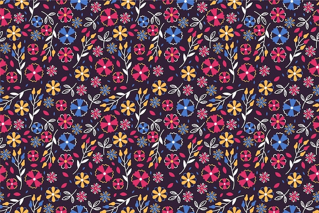 Bonito patrón en flor pequeña