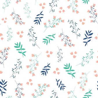 Bonito patrón de fondo sin fisuras de hojas