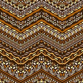 Bonito patrón con ornamentos étnicos