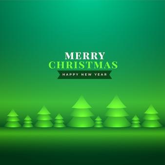 Bonito saludo navideño con árbol de navidad realista.