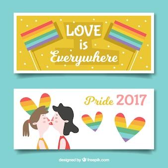 Bonitos banners del día del orgullo
