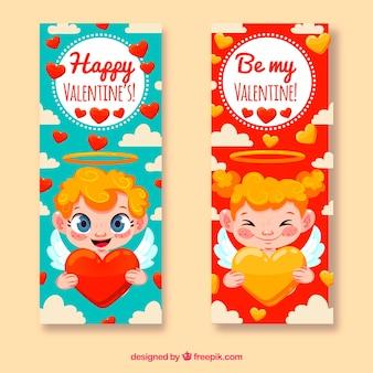 Bonitos banners de san valentín