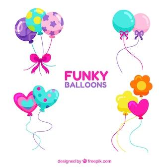 Bonitos y coloridos globos decorativos