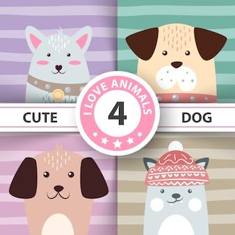 Bonitos personajes de perros