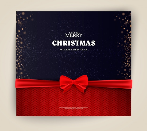 Bono de regalo de navidad y año nuevo, ilustración de plantilla de cupón de descuento