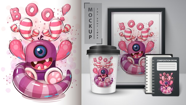 Boo monster poster y merchandising