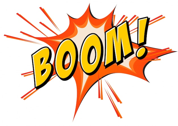 Boom flash en blanco vector gratuito