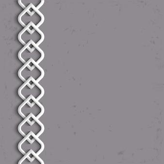 Borde blanco 3d en estilo árabe