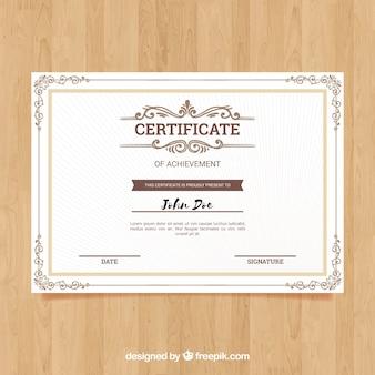 Borde de certificado ornamental