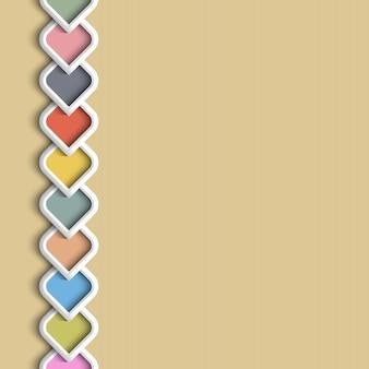 Borde de color 3d en estilo árabe
