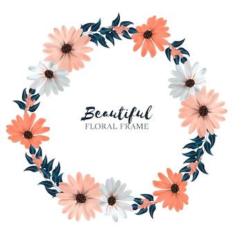 Borde de corona floral hermosa