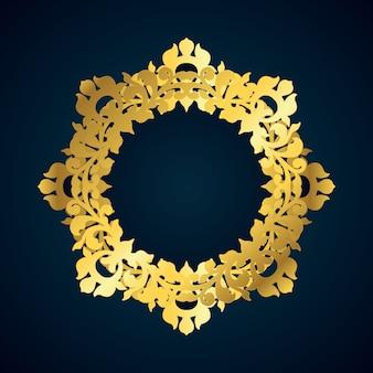Borde dorado decorativo