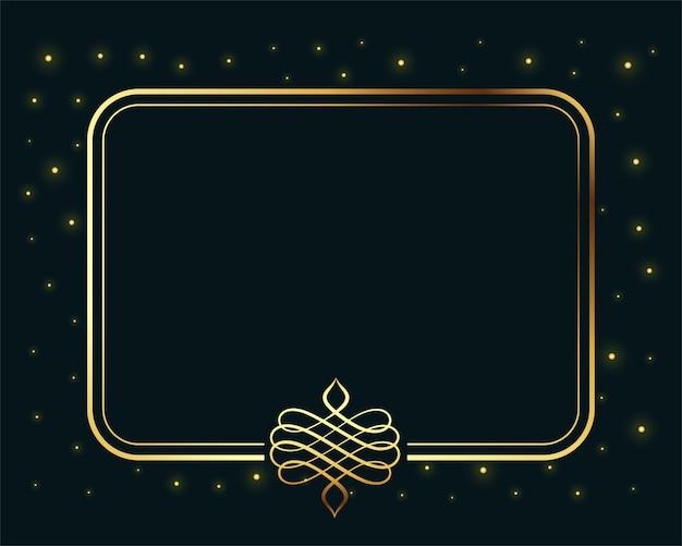 Borde dorado vintage royal frame con espacio de texto