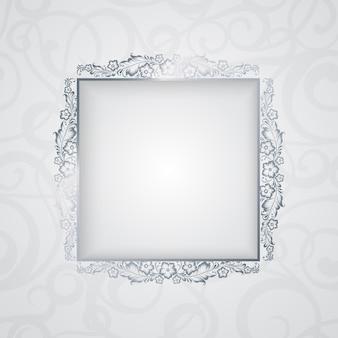 Borde elegante con marco floral