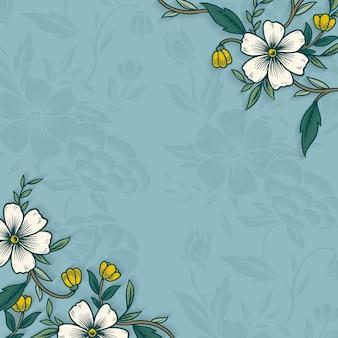 Borde floral con espacio de copia