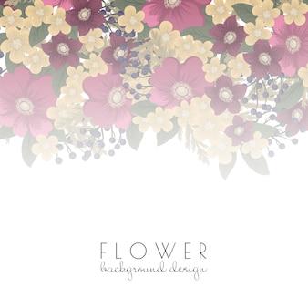 Borde de flores - flor rosa fuerte