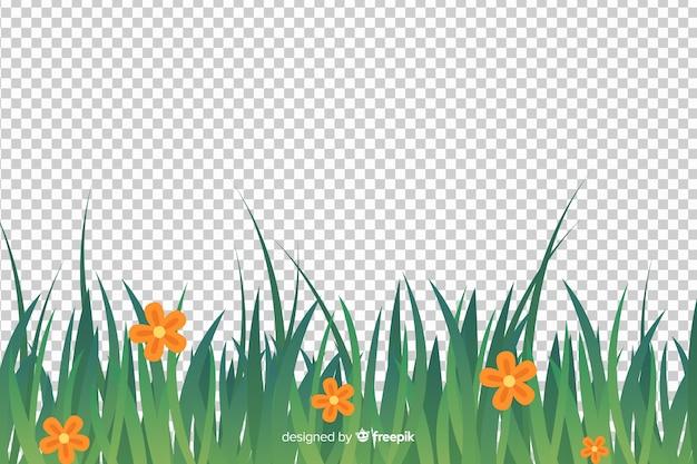 Borde de hierba estilo realista.