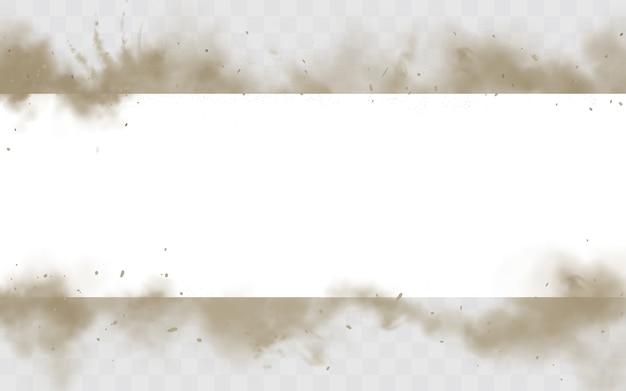 Borde horizontal de smog sucio