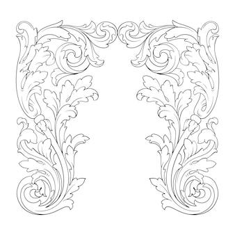 Borde de marco ornamental retro