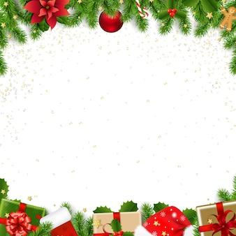 Borde de navidad con abeto