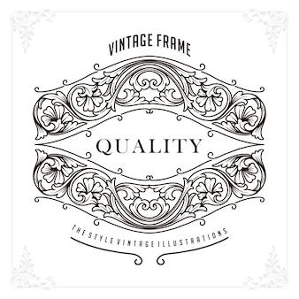 Borde perfecto de lujo premium para identidad e invitación